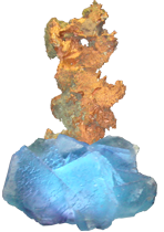 copper and flourite
